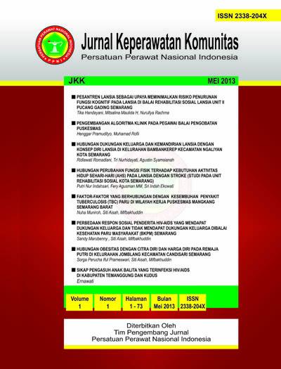 JKK | Jurnal Keperawatan Komunitas | ISSN : 2338-204X