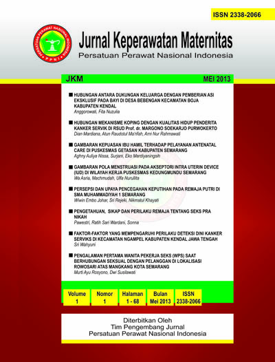JKMat | Jurnal Keperawatan Maternitas| ISSN : 2338-2066
